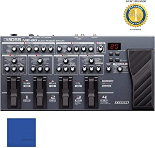 BOSS ME-80 Guitar Multi-Effects Processor with Microfiber and 1 Year Everything Music Extended Warranty