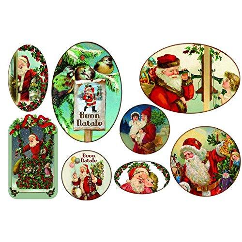 Carta di riso Babbo Natale Buon Natale - Stamperia DFS232