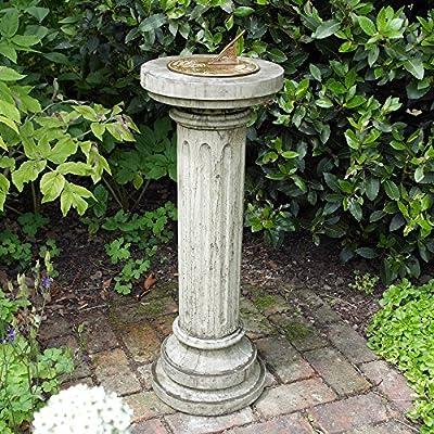 Sun Dial Round Design Stone and Brass OGD224