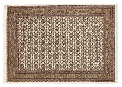 BADOHI HERATI echter klassischer Orient-Teppich handgeknüpft in creme-beige, Größe: 40x60 cm