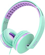 On Ear Headphones with Mic, Jelly Comb Foldable Corded Headphones Wired Headsets with..