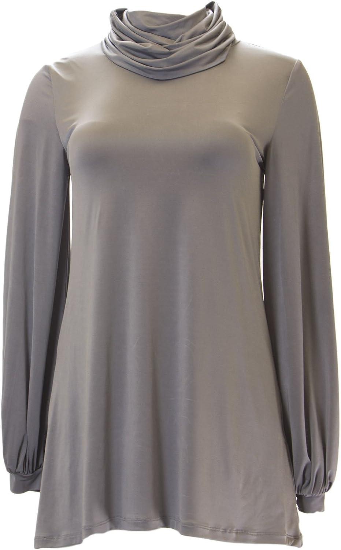 ANALILI Women's Grey Bishop Sleeve Turtleneck Tunic 555R31