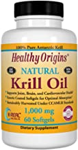 Healthy Origins – Krill Oil 1000mg x 60 Softgels Supports Joint Brain and Cardiovascular Health Natural Supplement Gluten-Free Soy-Free Dairy-Free Estimated Price : £ 33,95
