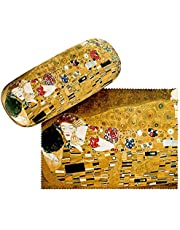 VON LILIENFELD Brillenetui Brillenkoker Stabiele Gustav Klimt:De Kus Reinigingsdoek Glasses Case Art