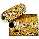 VON LILIENFELD Portaocchiali Astuccio Occhiali Regalo Donna Arte Gustav Klimt: Il bacio