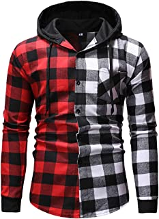 Men Hoodie Men Tops Trendy Streetwear Slim Fit Long Sleeve Plaid Shirts Fashion Casual Comfortable Spring and Autumn New M...