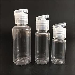 優れた先進的な10個10ml / 20ml / 30ml詰め替え可能プラスチック空ボトル フリップキャップ付き ストレージコンテナ エマルジョンエモリアントウォーターメイクアップリムーバー 液体瓶ポット