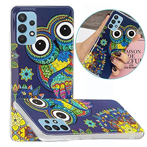 Hongjian Funda para Samsung Galaxy A32 4G SM-A325F, SM-A325M SM-A325F/DS, SM-A325M/DS Glow at Night TPU Soft Case Cover 7