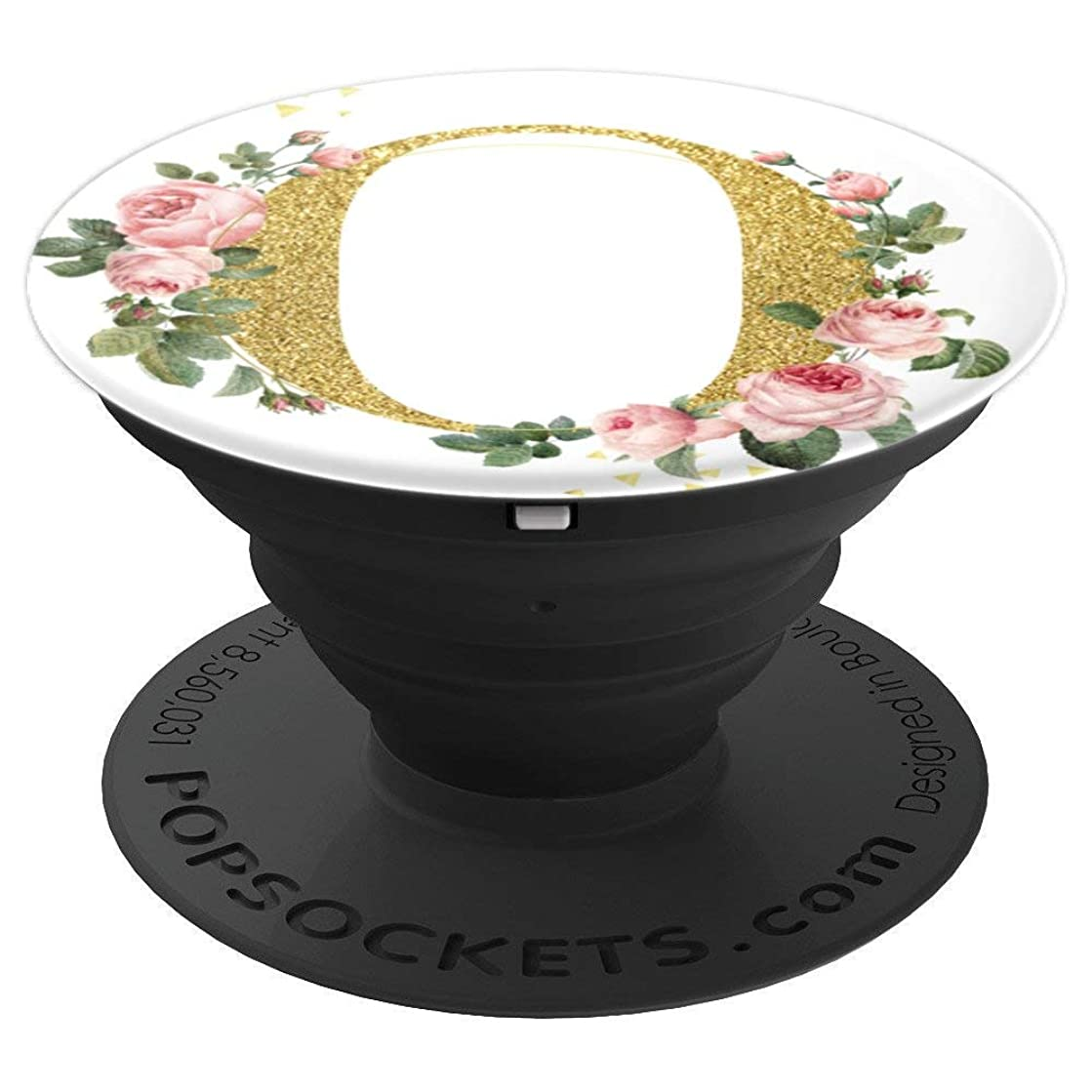 Monogram Letter O Rose Gold Pink Flowers Gift For Mom - PopSockets Grip and Stand for Phones and Tablets