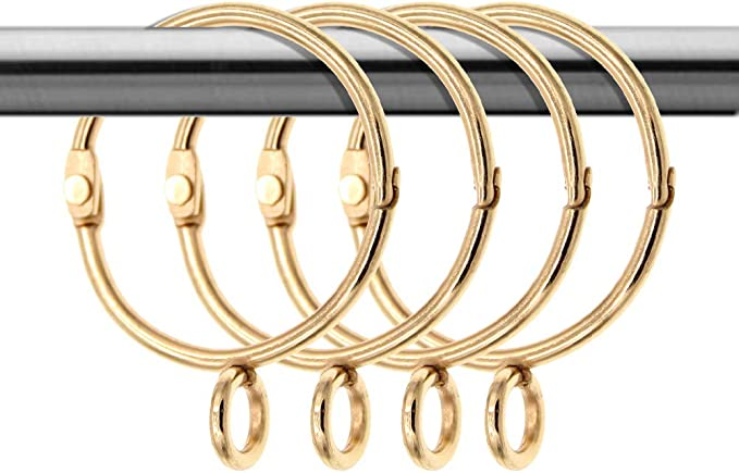 274 opinioni per Coideal 20 Pack Tenda d'oro Anelli rustproof Metallo Drappo Loop con Occhielli