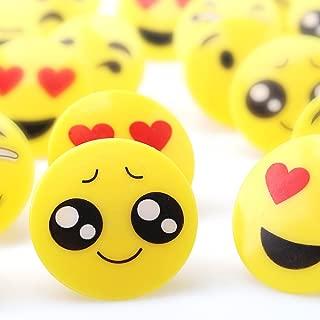 Amy&Benton Plastic Emoji Cupcake Rings for Kids 60PCS 1.38 Inches