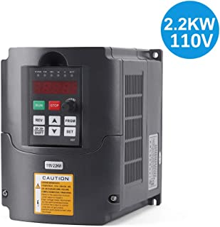 VFD 2.2KW/110V 3hp Variable Frequency Drive CNC Motor Drive Inverter Converter for Spindle Motor Speed Control (2.2KW/110V)