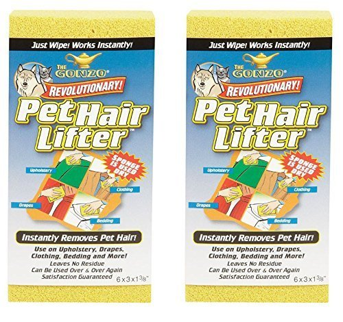 Gonzo Pet Hair Lifter Sponge – 2 Pack by Gonzo