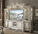 acme Versailles Entertainment Center, Bone White (1Set/4Ctn) Bone White/Vintage/Traditional