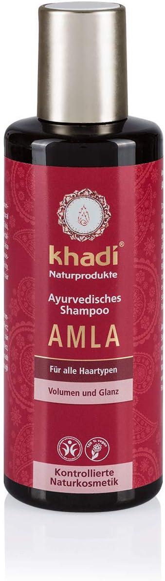 Khadi 1118-039 - Champú para volumen y brillo, 210 ml