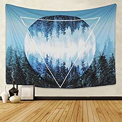 Mysterious Moon Forest Tapestries for guys