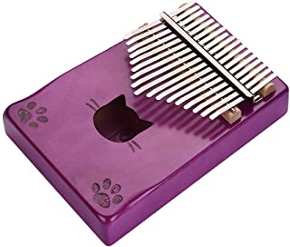 Decdeal Walter.t WK-17MS Portable 17-key Kalimba Thumb Piano Mbira Maple Wood with Carry Bag Tuning Hammer Cleaning Cloth ...