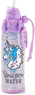 Justice for Girls Sequined Unicorn Sleeved Water Bottle