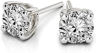 100% Natural Diamond Earrings For Women IGI Certified 1/5 Cttw - 3/4 Carat Diamond Stud Earrings for Women 14K Gold Diamond Solitaire Earrings For Women Solitaire Diamond Earrings for Women