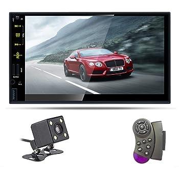 2 Din Autoradio Vivavoce Bluetooth Zijin 7 HD Lettore Mp5 Per Auto Touchscreen Capacitivo Lettore Multimediale Auto FM Radio Doppia USB FM Microfono Posteriore Mirror Link