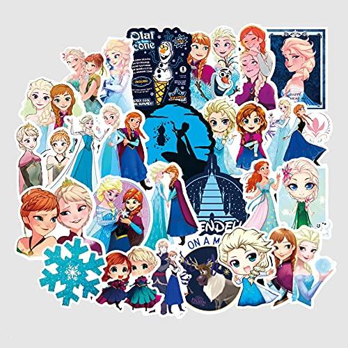 BUCUO Frozen 2 Pegatina Aisha Princesa Equipaje Pegatina Dibujos Animados Lindo Estuche de Viaje Taza de Agua Pegatinas para niños 100 Piezas