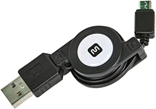 Monoprice 10959 USB 2.0 Retractable Cable - A Male To Micro B Male - 2.5 ft.