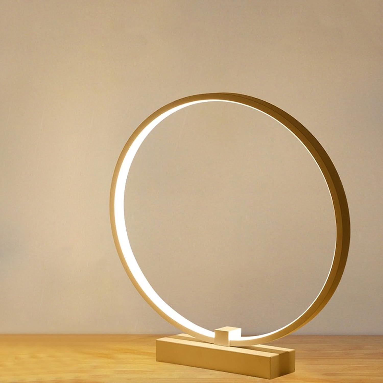 JIAHONG Led Tischlampe, Schlafzimmer Bedside kreative runde Form Tischlampe, hohe Lichtdurchlässigkeit Acryl Kunst Tischlampe (weiß, 360 ° Rotation) große Anzahl ( Farbe   Warm light ) B07316WM9M | Guter Markt