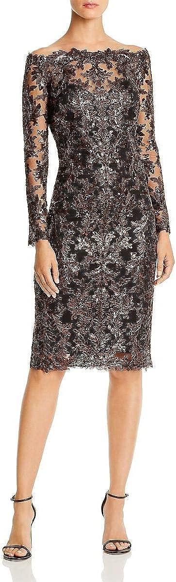 Tadashi Shoji 35% OFF Women's Off Shldr L Sequin S Lace Dress Free shipping on posting reviews