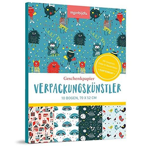 Verpackungskünstler – kunterbunt: 10 Bogen Geschenkpapier (monbijou)