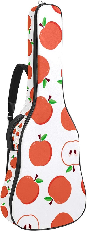 Apple Pattern impermeable Durable guitarra caso bolsa de guitarra con bolsa de almacenamiento en el interior