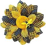 Guirnalda de la guirnalda de la guirnalda de la correa de girasol, la guirnalda de la puerta de la flor de la hortensia de 35 cm, todas las estaciones de la guirnalda de la flor redonda ( Size : B )