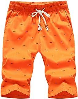 Ptyhk RG Mens Drawstring Elastic Waist Boxers Regular Sport Beach Pants