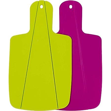 Kitchen Helpis® Tabla de Cortar Plegable, Set de 2 (verde y rosa), Tabla de Cocina, Tabla de corte para camping, ayuda práctica de cocina, tabla de cortar frutas y verduras para la blandura