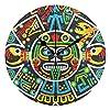 インテリア 掛け時計 サイレント キッズ 子供 部屋 簡単 メキシコの部族マヤ暦柄 子供 置き時計 おしゃれ 北欧 時計 壁掛け 連続秒針 電池式 [並行輸入品]