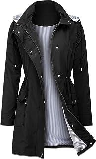 Women Light Rain Jacket Waterproof Active Outdoor Trench...