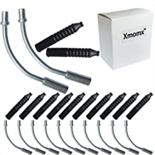 Xmomx 10 PCs 135° Liner V Brake Noodle Cable Guide Pipe Rubber Boot Bicycle Cycling Set
