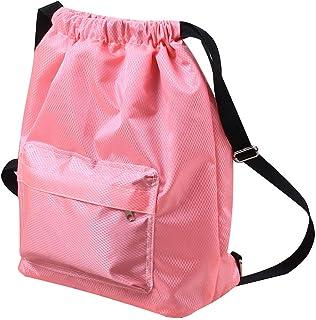 SYCYKA Beach Backpack Portable Waterproof Gym Swim Pool Drawstring Bag, Adjustable Dry Wet Separated Sport Equipment Bags ...