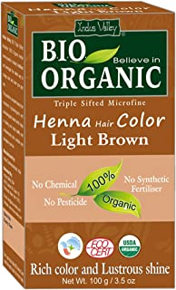Sponsored Ad - Indus Valley Light Brown Henna Hair Color-100% Pure & Natural