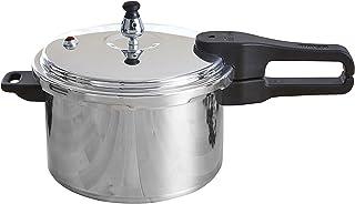 IMUSA USA A417-80401 Aluminum Stovetop Pressure Cooker 4.2Qt, Silver