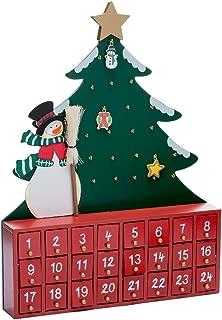 Best kurt adler wooden snowman with tree advent calendar Reviews