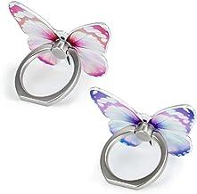 Finger Ring Stand,2 Pack Luxury Glitter Diamond Magnetic Universal Metal Smartphone Finger Ring...