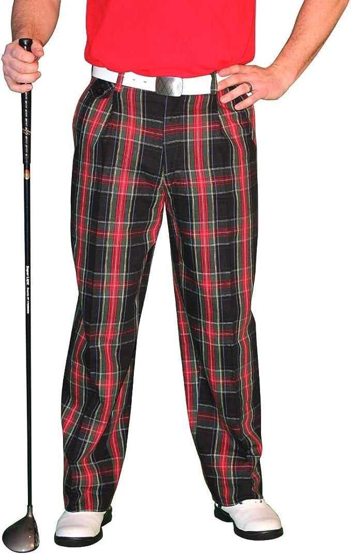 1950s Men's Pants, Trousers, Shorts | Rockabilly Jeans, Greaser Styles Black Stewart Golf Trousers - Mens Par 5 Cotton  AT vintagedancer.com
