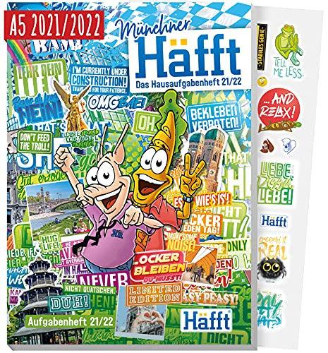 Häfft Original - Das Hausaufgabenheft 2021/2022 A5 [München] ultimativer Schülerkalender, Schülerplaner   nachhaltig & klimaneutral