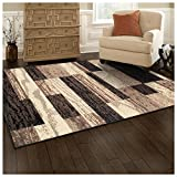 SUPERIOR Rockwood Indoor Area Rug, 5' x 8', Chocolate