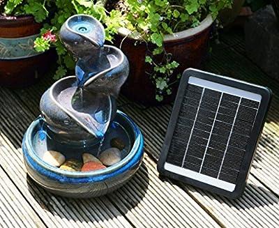 Primrose Cosmos Solar Ceramic Oil Jar Fountain Safe Variation