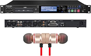 Tascam SS-CDR250N 2-Channel Networking CD and Media Recorder Includes Free Wireless Earbuds - Stereo Bluetooth In-ear Earphones and 1 Year Everything Music Extended Warranty