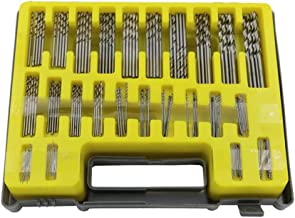 Espeedy 150PCS 0.4-3.2mm Juego de Brocas Pequeña Precisión con Estuche de Transporte Caja de Plástico Mini HSS Kit de Taladro de Mano Twist