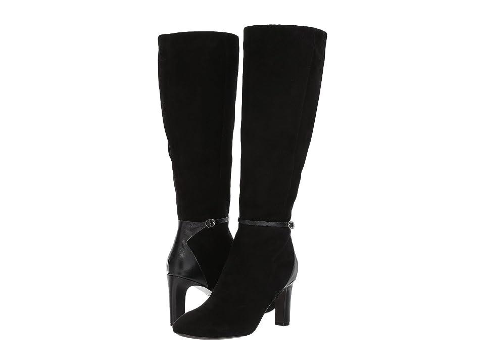 Cole Haan Matson Boot II (Black Leather/Black Suede) Women