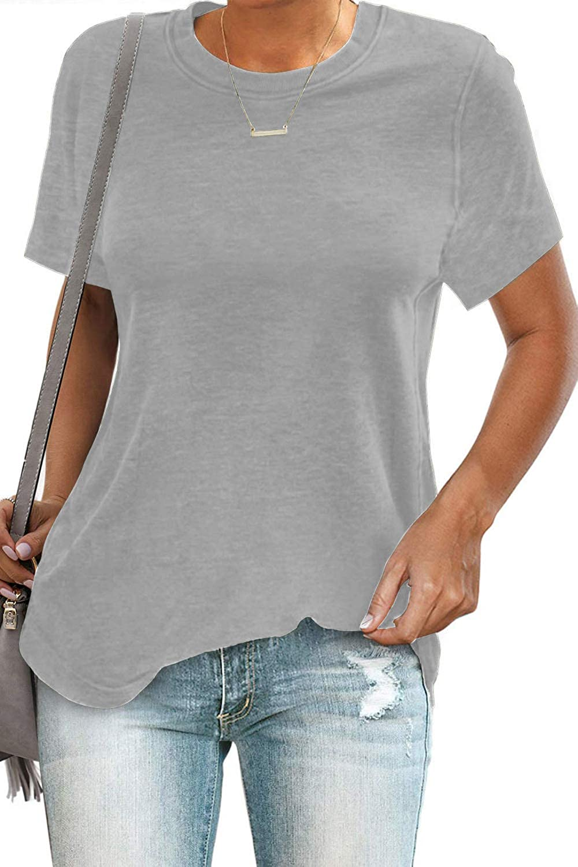SENSERISE Womens Casual Crewneck Sweatshirt Short/Long Sleeve Solid Color Shirt Soft Lightweight Loose Tops at  Women's Clothing store