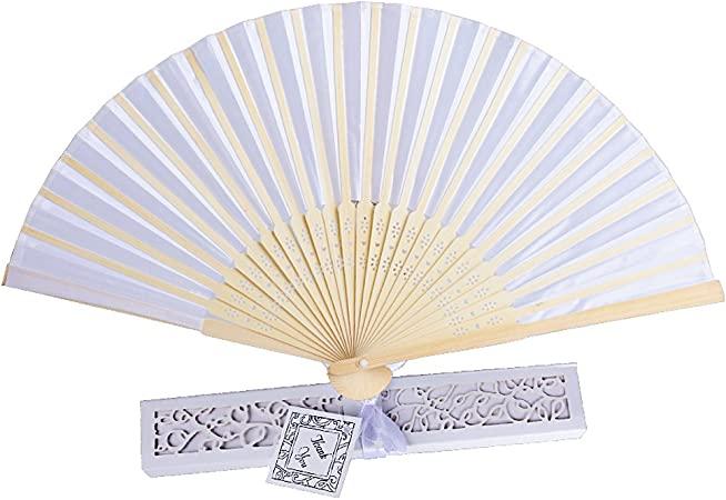 20 Bambus Fächer inkl. Deko-Schachteln